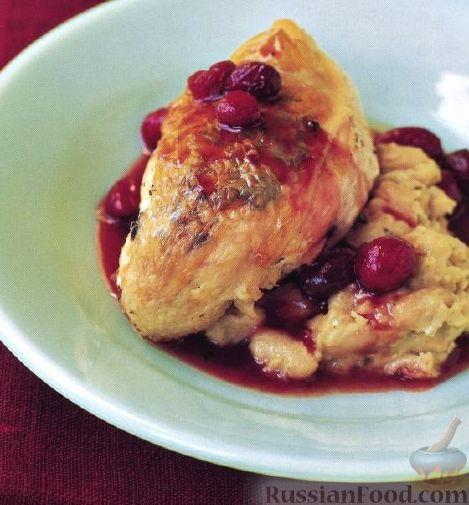 Рецепт Курица под клюквенным соусом
