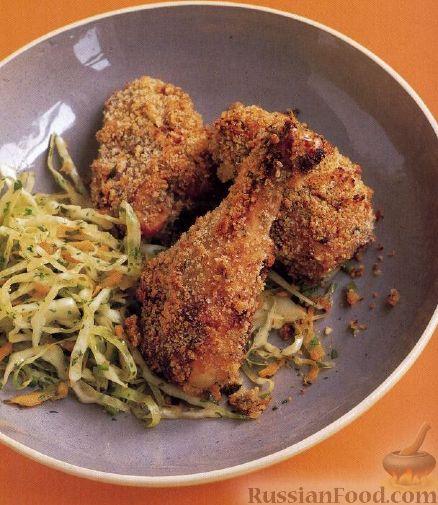 Рецепт Курица, жареная в хлебных крошках