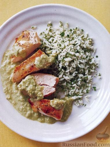 Рецепт Курица под острым сливочным соусом