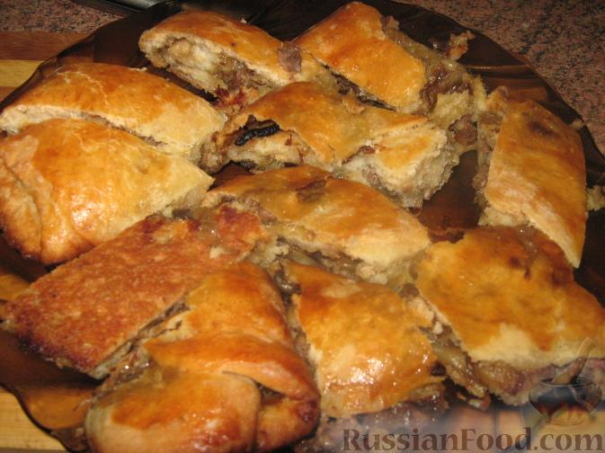 Рецепт Дрожжевые рулеты с мясом и грибами