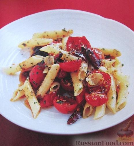 Рецепт Макароны с томатами и оливками
