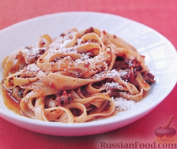 Рецепт Макароны с мясным итальянским соусом
