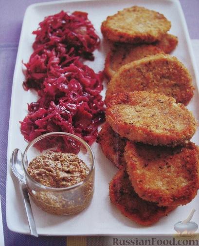Рецепт Медальоны из свинины в хлебных крошках с тмином