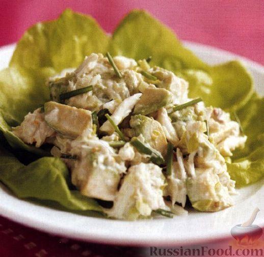 Рецепт Салат с мясом крабов и авокадо