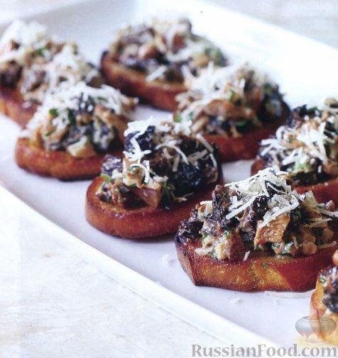 Рецепт Бутерброды с грибами