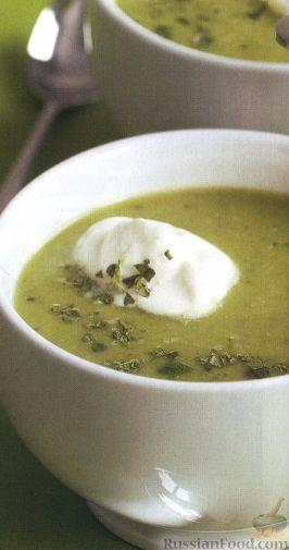 Рецепт Гороховый суп-пюре с мятой