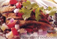 Фото к рецепту: Курица с ананасами и фасолью