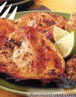 Фото к рецепту: Курица с пряностями и соком лайма