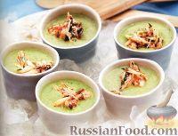 Фото к рецепту: Холодный суп с огурцами и мясом крабов