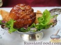 Фото к рецепту: Горячая закуска из морских гребешков с грейпфрутом