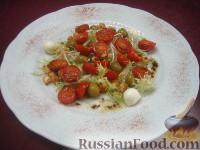 Фото к рецепту: Салат с поджаренными помидорами