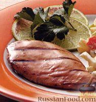 Фото к рецепту: Курица в апельсиново-горчичном маринаде, жареная на гриле