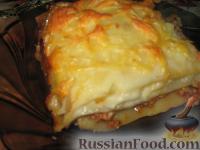 Фото к рецепту: Мясная лазанья с грибами и соусом бешамель