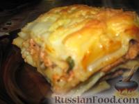 Фото приготовления рецепта: Мясная лазанья с грибами и соусом бешамель - шаг №9