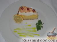 Фото к рецепту: Пирог с безе и лимонным кремом   (Crostata meringata con crema al limone)