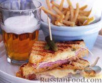 Фото к рецепту: Сэндвич «Рубен» с ветчиной