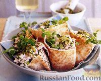 Фото к рецепту: Салат из кускуса и мяса индейки с соусом песто