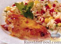 Фото к рецепту: Курица под абрикосовым соусом