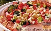 Фото к рецепту: Открытый пирог с курицей