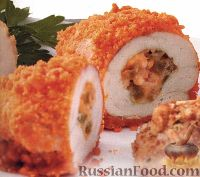 Фото к рецепту: Котлета по-киевски – латиноамериканская версия