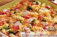 Фото к рецепту: Курица с макаронами и сыром чеддер