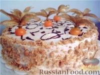 """Фото к рецепту: Изумительный морковный торт - призёр журнала """"Приятного аппетита"""", издательского дома """"Бурда"""""""