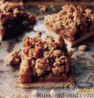 Фото к рецепту: Яблочный песочный пирог