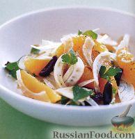 Фото к рецепту: Салат из фенхеля с апельсинами и петрушкой