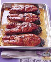 Фото к рецепту: Лосось жареный под соусом Хойсин