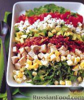 Фото к рецепту: Салат с индейкой и авокадо