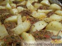 Фото к рецепту: Мясные трюфеля, запечённые с овощами
