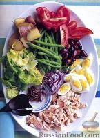 Фото к рецепту: Салат «Нисуаз» с лососем