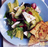Фото к рецепту: Салат Греческий с лавашом