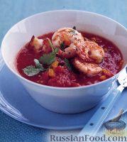 Фото к рецепту: Гаспачо с креветками