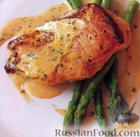 Фото к рецепту: Жареная курятина под горчично-сливочным соусом