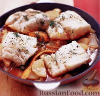 Фото к рецепту: Треска с фенхелем и картофелем