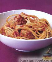 Фото к рецепту: Спагетти с тефтелями из индейки