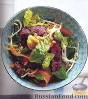 Фото к рецепту: Салат со стейком по-тайски