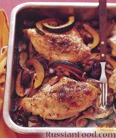 Фото к рецепту: Курица жареная с овощами