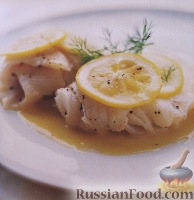 Фото к рецепту: Камбала с лимоном