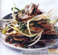 Фото к рецепту: Свинина с черной фасолью и фенхелем