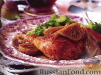 Фото к рецепту: Курица с портвейном и инжиром