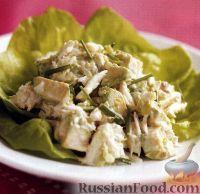 Фото к рецепту: Салат с мясом крабов и авокадо