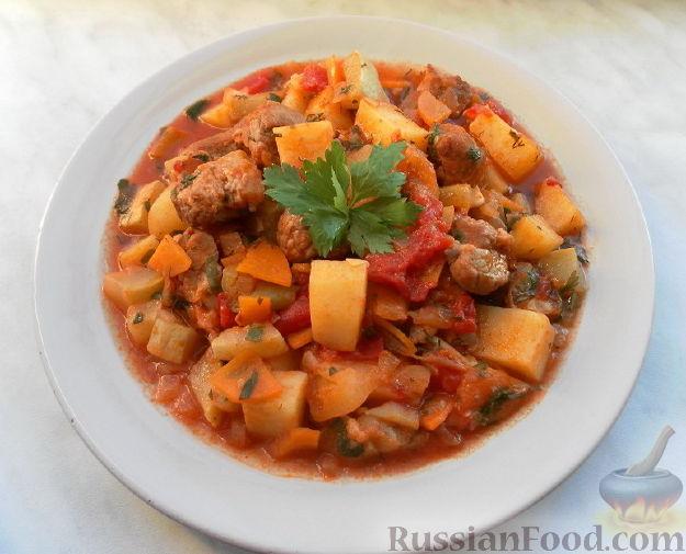 Рецепт Мясное рагу с овощами