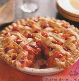Рецепт Пирог с вишней, нектарином и абрикосами