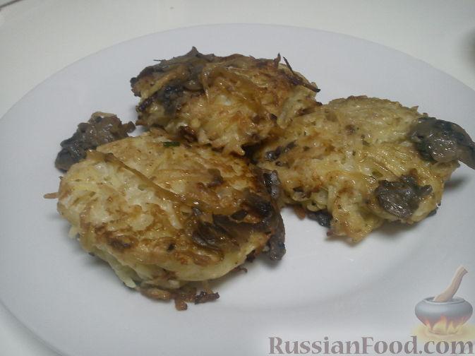 Рецепт Деруны с грибами