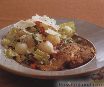 Рецепт Говяжьи стейки с картофельным салатом