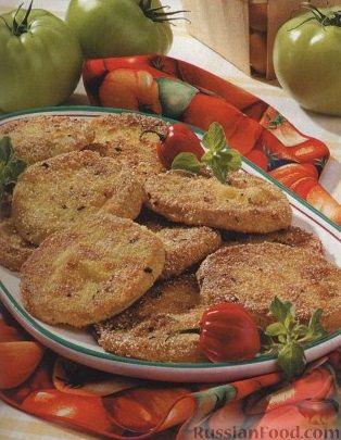 Рецепт Зеленые помидоры, жаренные в кляре