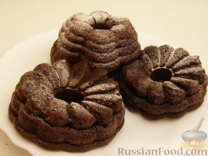 Рецепт Шоколадные кексы с кефиром и манкой