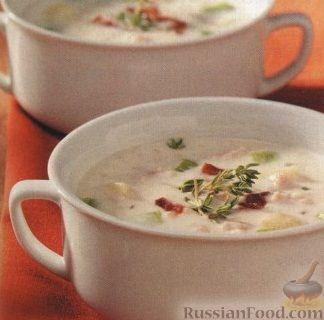 Рецепт Сливочный суп с мидиями и овощами